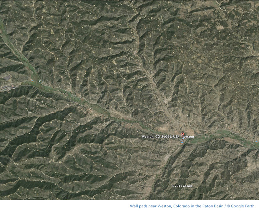 Google Earth Weston, Colorado